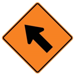 Rental store for TRAFFIC SIGN, LANE CLOSURE ARROW-LEFT in Vancouver BC